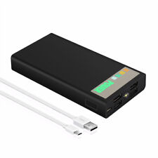 50000mah LCD Power Bank 4 USB LED External Backup Pack Battery Charger For Phone