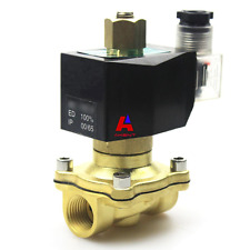 """DC12V Electric Solenoid Valve, 1/2"""" Available NPT, Brass, Normally Open"""