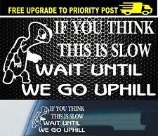 Car 4x4 Caravan Decal Sticker Funny Slow Vehicle