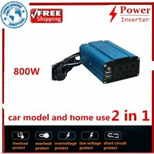 Pure Sine Wave Power Inverter DC 12V to AC 110V 800W Off Q@