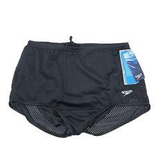 NWT's W/ Box Speedo Men's Youth Mesh Training Suit Black Size 28 Swimming String