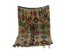 Boucherouite rug 4x6 Moroccan Berber Vintage Rug, Morocco Carpet tribal teppich