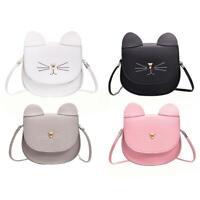 PU Leder Süß Damen Katze Form Klappe Schultertaschen Mini Messenger Handtaschen