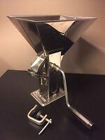 Vintage Uginox Inox Stainless Steel Coffee Mill Hand Grinder, Spices, Seeds