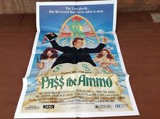 1987 Pass The Ammo Original Movie House Full Sheet Poster