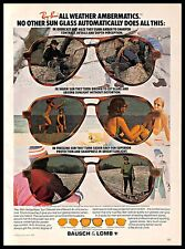 1979 Ray Ban Sunglasses Vintage PRINT AD Bausch & Lomb Outdoors Eyewear 1970s