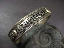 Mantra Filigree Tibet Cuff Bracelet Nepal B433 Om Mani Padme Hum chant yoga