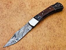 "Rody Stan HAND MADE DAMASCUS 5"" FOLDING POCKET KNIFE - BACK LOCK - MP-4404"
