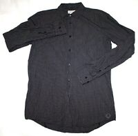 Diesel Mens Long Sleeve Button Front Shirt Size Large