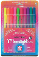 Sakura Gelly Roll Moonlight 10 Color Set Archival Quality Gel Ink 0.3mm Pen
