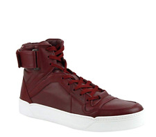 Gucci Mens Strong Red High Top Sneakers Size 10