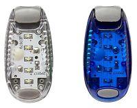 1 Blue 1 White LED Safety Light Night Clip On Flashing Running Cycling Bike Pet