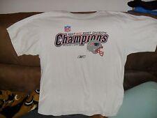 NFL NEW ENGLAND PATRIOTS WHITE TSHIRT SZ.XL 2007 CHAMPIONS NE.PATRIOTS