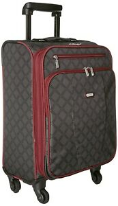 """Baggallini Getaway Charcoal Link Travel Roller 22"""" Suitcase Luggage 144023"""