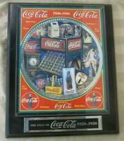 THE ERAS OF COCA-COLA MUSICAL WALL PLAQUE COKE 1920-1930 Numbered