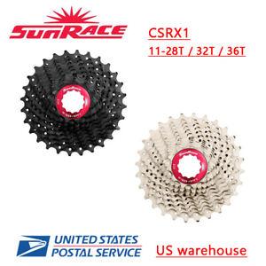 SunRace CSRX1 11 Speed Road Bike Cassette 28/32/36T Black Silver Light Weight