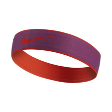 "Womens or Girls Nike Pro Swoosh 2.0 Headband Head Band Purple Orange 1.5"""