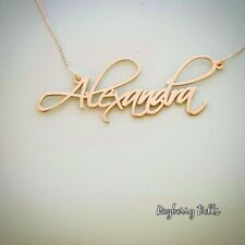 Gold Name tag necklace/Gold Name Plate Necklace / Personalized jewelry 14k gold