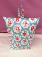 Handmade DoorStop Using Cath Kidston Provence Rose Blue Oil Cloth - FILLED NEW