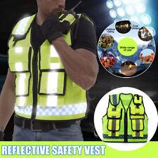 Safety Vest Wear Reflective Driving Jacket Worker Night Security Waistcoat Kit