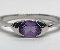 Vintage Sterling Silver Ring 925 Size 9 Amethyst