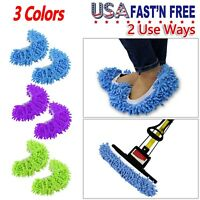 5/10 Pair Mop Slippers Lazy Floor Foot Socks Shoes Quick Polishing Cleaning Dust
