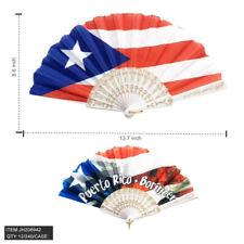 Lot of 12 Pretty PUERTO RICO Folding Hand Fan Free Shipping