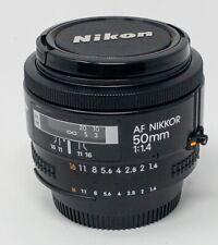 Nikon Nikkor AF 50mm f 1:1.4 Lens w/ UV FilterMint Condition
