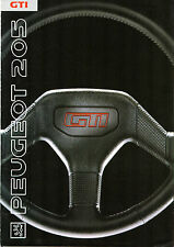 Peugeot 205 GTi 1.6 & 1.9 1989-91 UK Market Foldout Sales Brochure