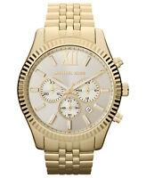 New Michael Kors MK8281 Lexington Gold Stainless Steel Chronograph Men's Watch