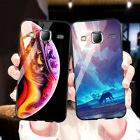 Stars Space Tempered Glass Case For Samsung Galaxy J7 2017 2015 J2 Prime Covers