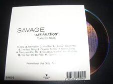 Savage Garden / Darren Hayes Affirmation Rare Australian Promo CD