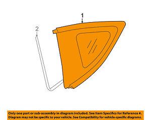 Scion TOYOTA OEM FR-S-Rear Quarter Panel Side Window Glass Right SU003G0012