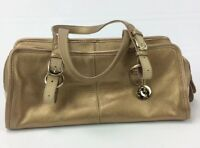 THE SAK Gold Small Leather Shoulder Tote Purse Handbag Bag HG1