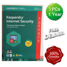 Sealed Kaspersky Internet Security 2018 3 Users Multi device inc Antivirus UK