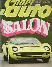 SPORT AUTO 69 1967 SALON DE L'AUTO 68 CANAM GP CANADA & ITALIE COUPE DES ALPES