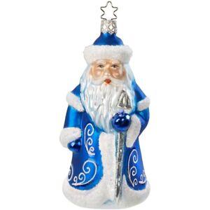Väterchen Frost, blau 14,5cm Inge-Glas Glasschmuck Weihnachtsschmuck