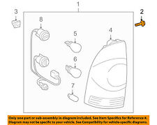 TOYOTA OEM Taillight Tail Light Lamp Rear-Tail Lamp Assembly Screw 9010506287