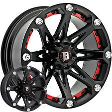 4 - 20x9 Black Ballistic Jester Wheel 6x5.5 (6x139.7) -12 Offset 814290655-12FB