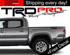 (2x) TRD PRO Racing Development Toyota Tacoma Tundra 2017 Vinyl Bed Sides Decals