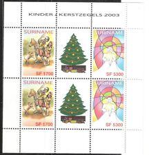 Suriname Zbl Nr 1219/1220 V in TB paar met tussenstrook    Postfris.