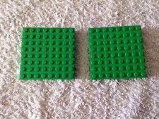 2 X Lego Base Boards 8 x 8