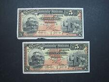 MEXICO MERIDA PENINSULAR 5 PESO 1914 S465 ERROR CONS # REVOLUTION PAPER MONEY A