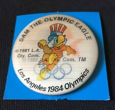 Sam the Olympic Eagle '84 Los Angeles Flicker Pinback Button: HANDBALL