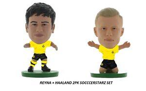 Erling Haaland + Giovanni Reyna Borussia Dortmund SoccerStarz 2 Inch Figure Set