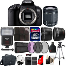 Canon EOS 800D / T7i 24.2MP Digital SLR Camera + 18-55 IS STM Lens Advanced Bund
