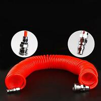 US Stock 20ft OD 8mm ID 5mm Air Compressor Spring PU Pipe Hose Quick Connector