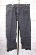 Levi Strauss Dark Wash 501 Straight Leg Button Fly Mens Jeans 40 x 30
