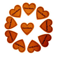 Heart Handmade PU Leather Labels for Sewing Crocheting Knitting DIY Projects