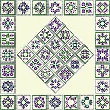 Quilt Blocks 1~counted cross stitch pattern #917~Fantasy Abstract Fine Art Chart
